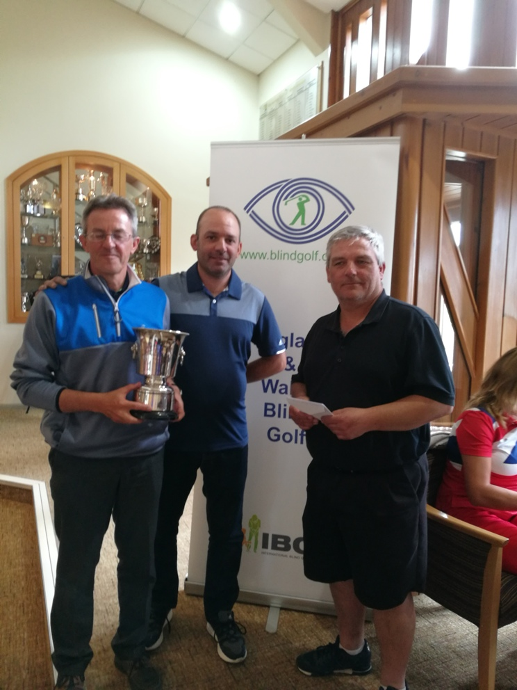 2017 Primary Club Matchplay Tournament Winner Steve Beevers receiving his trophy