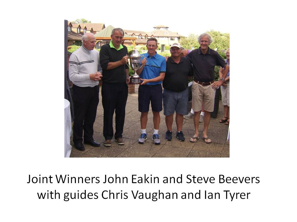 Joint Winners John Eakin and Steve Beevers with guides Chris Vaughan and Ian Tyrer