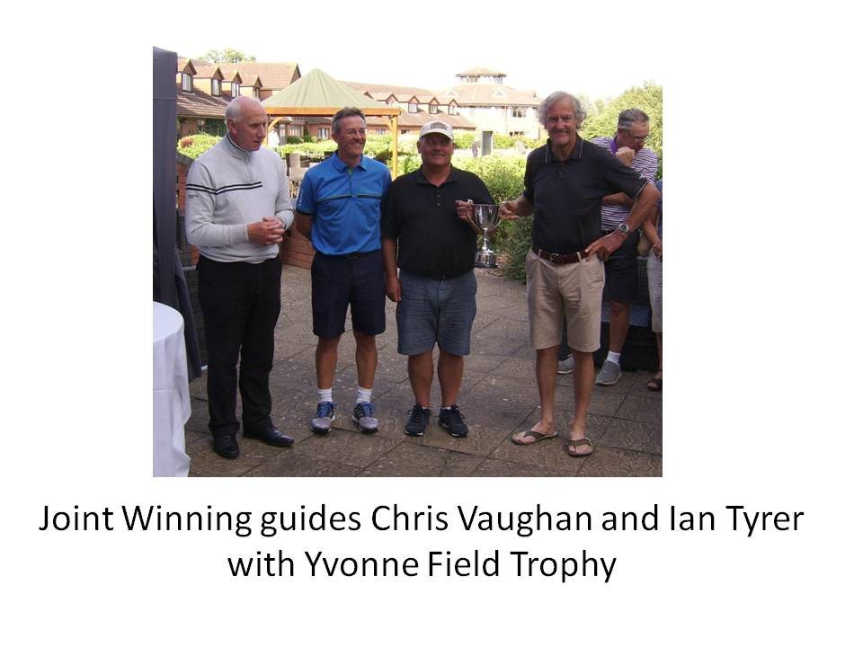 Joint Winning Guides Chris Vaughan and Ian Tyrer with Yvonne Field Trophy