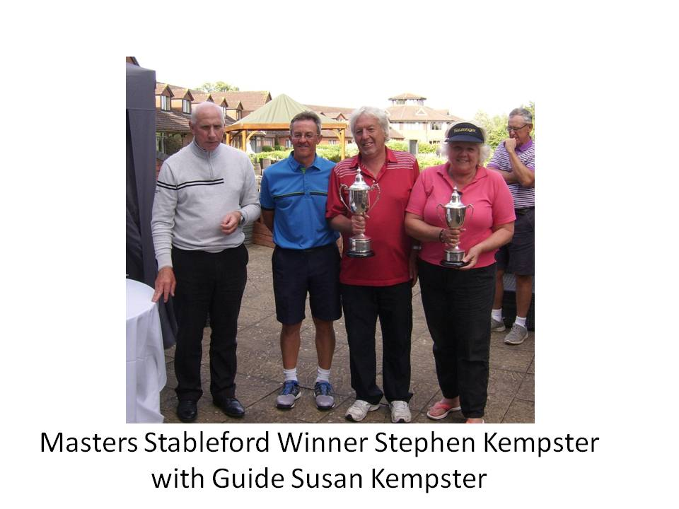 Masters Stableford Winner Stephen Kempster with Guide Susan Kempster