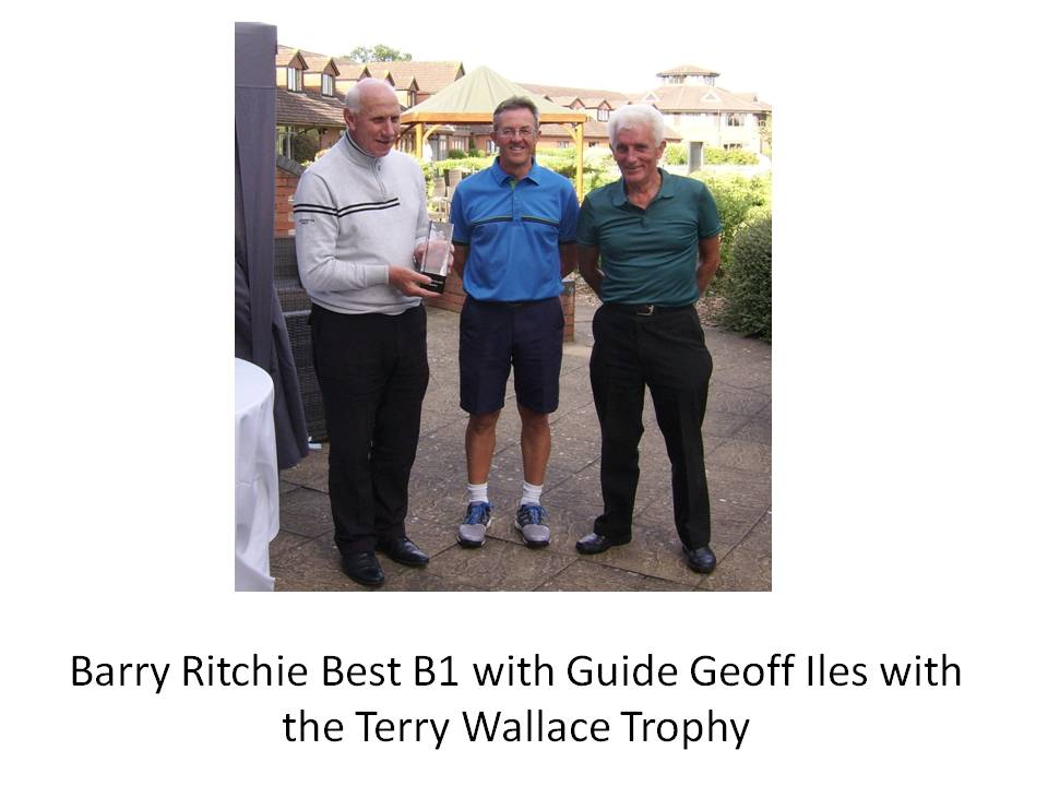 Barry Ritchie Best B1 with Guide Geoff Iles and the Terry Wallace Trophy